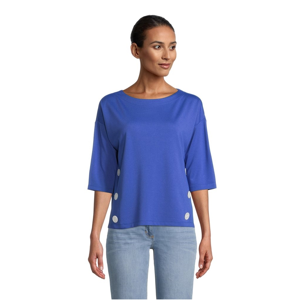 Betty Barclay Button Detail Sweater - Blue