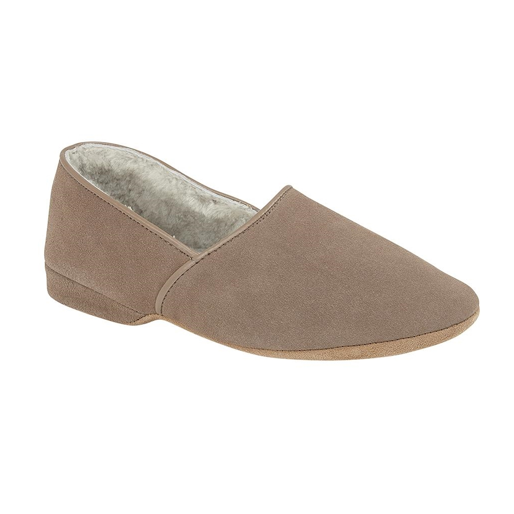 Draper Of Glastonbury Sheepskin Slipper  - Anton - Nut