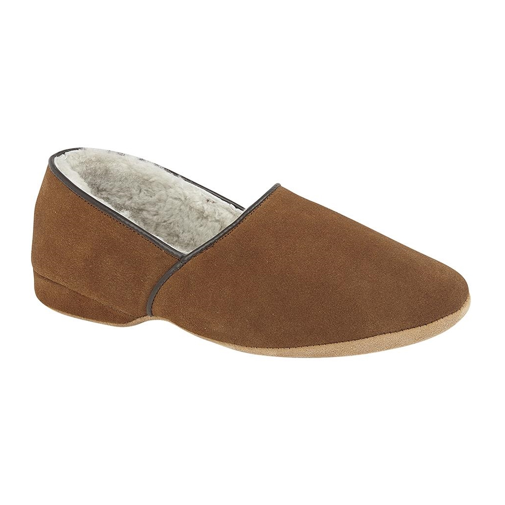 Draper Of Glastonbury Sheepskin Slipper  - Anton - Mocca