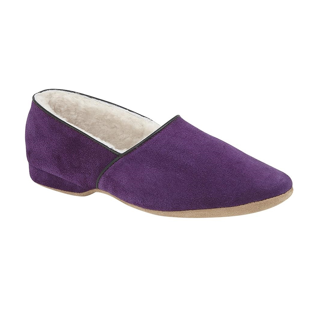 Draper Of Glastonbury Sheepskin Slipper  - Anton - Senate Purple