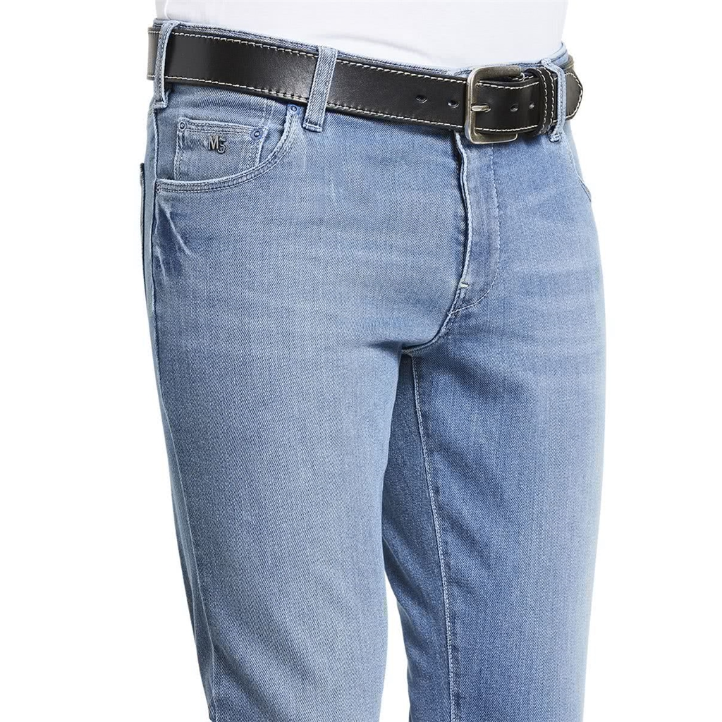 M5 By Meyer Super Slim Stretch Vintage Jeans - Light Stone Blue 6221 15