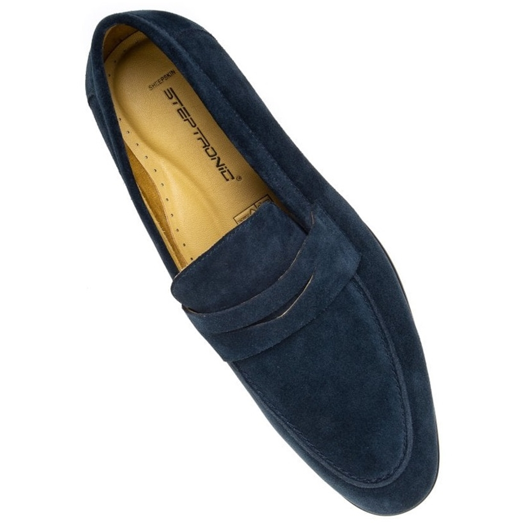 Steptronic Slip On Shoes - Frost - Navy Suede