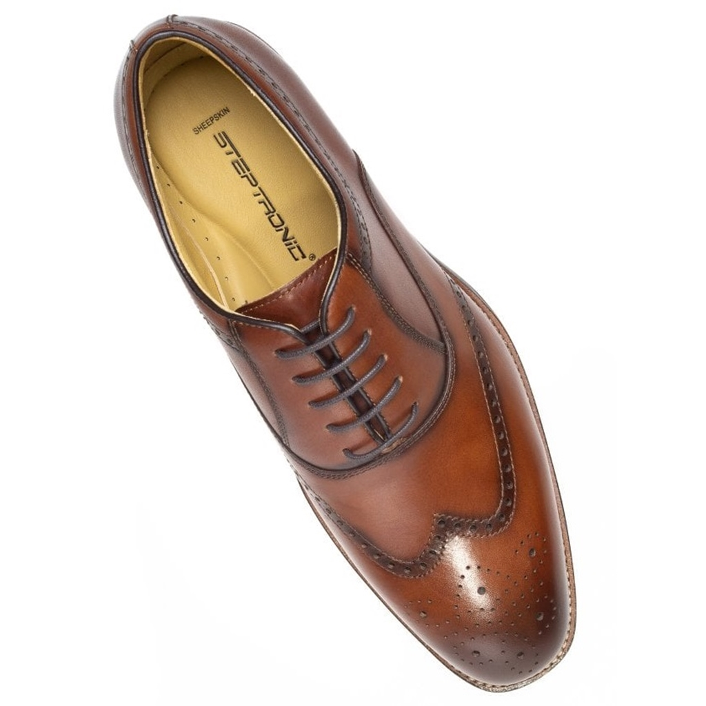 Steptronic Lace Up Shoes - Neil - Cognac