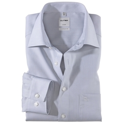 Olymp Comfort Fit Shirt - Silver Grey Chambray