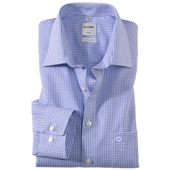 Olymp Comfort Fit Shirt - Blue Neat Check