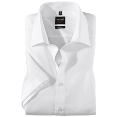 Olymp Level Five Body Fit Short Sleeve Shirt - White