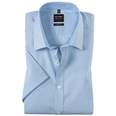 Olymp Level Five Body Fit Short Sleeve Shirt - Sky Blue