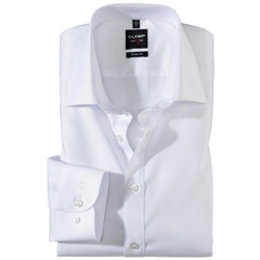 Olymp Level Five Body Fit Shirt - White with New York Kent Collar