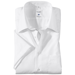 Olymp Regular Fit Short Sleeve Shirt - White