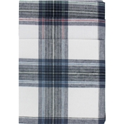 Pack of 6 Mens Extra Large Handkerchiefs in Navy Check - 'Workman's handkerchiefs'