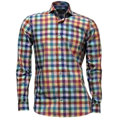Giordano Modern Fit Cotton Shirt - Block Multi Check