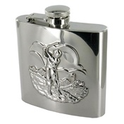 Mens Flask 6oz (FL29) Golf Scene- Hip Flask Excellent Quality Hip Flask - Gift For Golfers