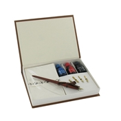 Calligraphy Set - Pen, Interchangable Nibs, Assorted Inks and Paper Pad Set (GT559)