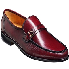 Barker Wade Shoes - Moccasin - Burgundy Kid