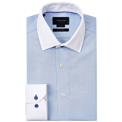 Duchamp Herringbone Shirt - Ford Blue - Size Medium Only