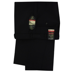 Club of Comfort Stretch Mid-weight Wool Mix Trouser - Black - Santos 2590 10