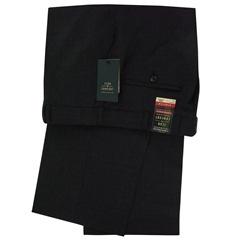 Club of Comfort Stretch Mid-weight Wool Mix Trouser - Charcoal - Santos 2590 1