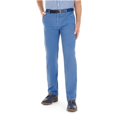 Gurteen Cotton Trouser - Mid Blue - Longford 1213 032