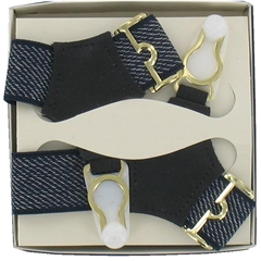 Gentleman's Sock Suspenders - Navy Fleck