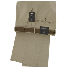 "Gurteen Wool Trouser - Beige - Munich 1531 104 - Size 32""R Only"