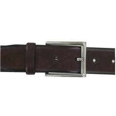 Monti Leather Dress Belt - Brown