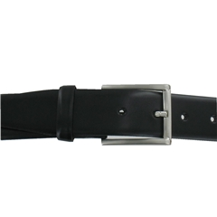Monti Leather Dress Belt - Black