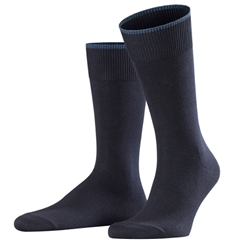 Falke Cotton & Cashmere Short Sock - Dark Navy