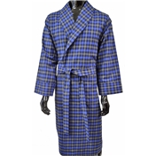 Lightweight Dressing Gown - Navy and Blue Check