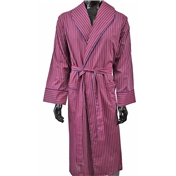 Lightweight Dressing Gown - Red, Blue and White Stripe
