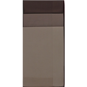 Gift Box Of 3 Men's Brown Handkerchiefs With Satin Borders