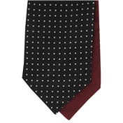 Men's Silk Cravat - Black with White Polka Dot