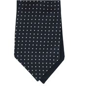 Men's Silk Cravat - Navy with White Polka Dot