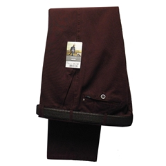 Meyer Trousers Canvas Cotton in Wine - 40R Only