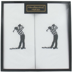 Golf Design Men's Handkerchiefs - Golf Handkerchiefs