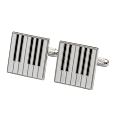 Piano Cufflinks - Piano Keys Design Cuff Links