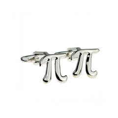 Pi Cufflinks - Mathematical Design Cuff Links
