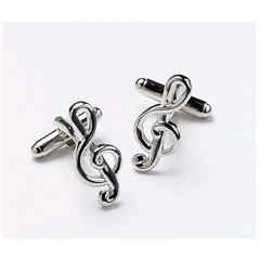Treble Clef Cufflinks - Music Cuff Links