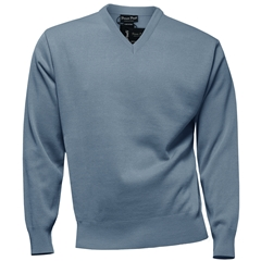 Franco Ponti Vee Neck Sweater - Azure