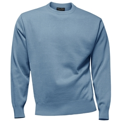 Franco Ponti 100% Lambswool Crew Neck Sweater - Sky