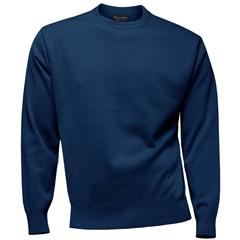 Franco Ponti 100% Lambswool Crew Neck Sweater - Royal