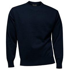 Franco Ponti 100% Lambswool Crew Neck Sweater - Navy
