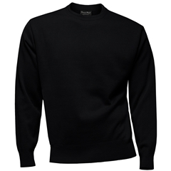 Franco Ponti 100% Lambswool Crew Neck Sweater - Black