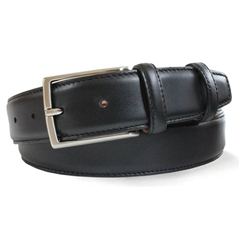 Mens Black Smooth Leather Belt by Robert Charles