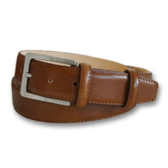 Mens Tan Leather Belt by Robert Charles
