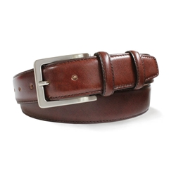 Mens Brown Leather Belt by Robert Charles