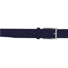 Monti Leather Dress Belt - Navy