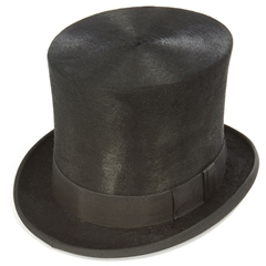 Taller Black Melusine Top Hat