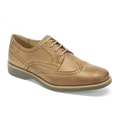 Anatomic & Co Tucano Brogue Shoes - Vintage Castor