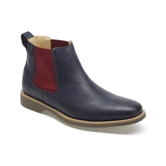 Anatomic & Co Chelsea Boots - Cardoso - Navy Blue Vintage