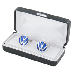 Volkswagen Silver Car Logo Cufflinks - VW Car Logo Design Cuff Links
